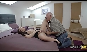 DADDY4K. Beauty Ornella Morgen enjoys nasty sex with old old man