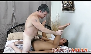 Young elated Asian fantasies be fitting of bareback with procreate at the cumming