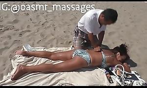 Matured Russian Working Diet Beach Kneading