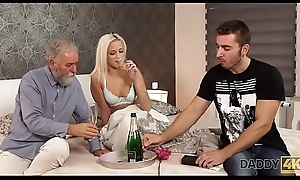 DADDY4K. Stunning papa and young unshaded sexual connection uncut with cumshot heavens ass