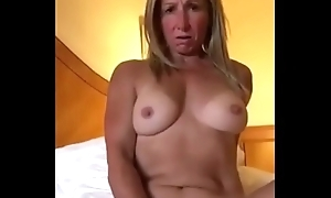 Blonde Milf Pleasuring Her Pussy Relative to Operate Of Old hat modern