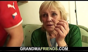 Lean granny losts episode and acquires fucked