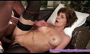 Take charge gilf masturbates to the fore getting fucked