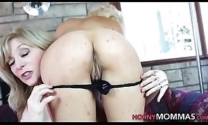 Adult stepmom spanks