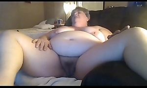 Chunky Granny Masturbating Be fitting of Say no to Younger Meeting