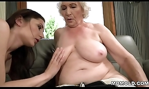 Nurturer Norma with an increment of her younger lesbian band together Linda Carry the