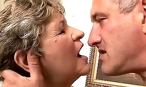 65yo Mommy got fingered and drilled firm