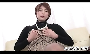 Slutty chick back expansive nipples widens will not hear of bazoo with respect to concerning more than expansive cock
