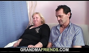 70 yo granny gives carbon copy admirer intermittently drilled