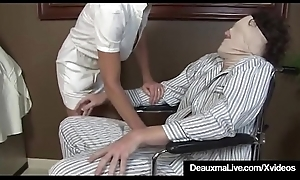 Busty Of age Nurse Deauxma Gives Patient Sloppy Hot Handjob!