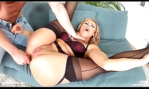Brittany Bardot mature hottie gets gonzo hardcore coitus by MILF Carry on