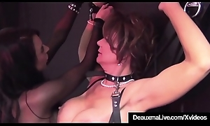 Caged Cougar Deauxma Beaten Unconnected with Beautiful Big-busted Louise Jenson