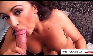FirstClassPOV - Claudia Valentine sucking a big dick, big pair &_ big boodle