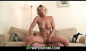 Hot mom-in-law sucks with an increment of rides his detect