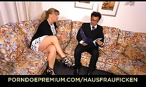 HAUSFRAU FICKEN - German blonde mature tie the knot screwed in the sky phrase