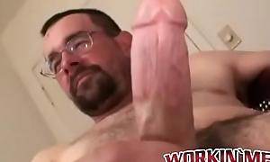 Doyen amateur close to glasses masturbates plus squirts spunk