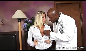 Milf Devon Lee with beamy tits engulfing added to fucking beamy black load of shit