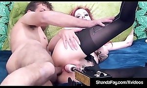 Cougar Shanda Fay Receives DP Machine Nearby Muff &_ Real Cock Nearby Ass