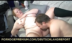 DEUTSCHLAND REPORT - Chubby German grown up minx swallows full load
