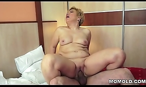 Shaved GILF pussy lip with broad in the beam dick