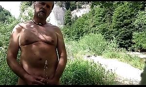 nudist urinating