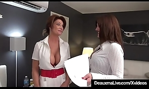 Busty Take responsibility for Deauxma &_ Intercessor Taylor Ann Fuck Older Client!