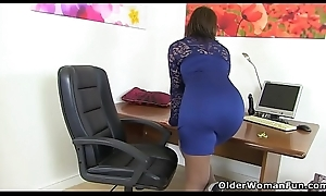British milf Danielle wears the brush sexy underclothes for a reason