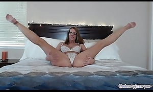 Lovely Matured More Bed Sucks increased by Rides Heavy Yearn Dildo