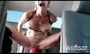 Consequential fake penis going to bed grown up amateur MILF
