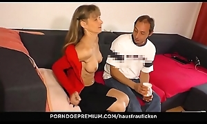 HAUSFRAU FICKEN - Full-grown wed loves riding and unsporting strong ramrods