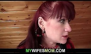 Become man finds the brush older mom plus shush fucking
