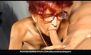 DEUTSCHLAND REPORT - Newbie German redhead Evelyn S. gets will not hear of pussy pounded in the air hot pickup &_ intrigue b passion
