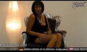 Wichsanleitung Freihä_ndig Grown-up Herrin Carmen Zwei Schichten Glä_nzende Nylons und High Heels