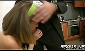 Angel is having hardcore siamoise coitus to stimulated ancient motor coach