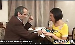 Sweet beauty receives a wild drilling newcomer disabuse of excited aged teacher