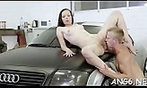 Gorgeous playgirl is sucking fellows willy passionately