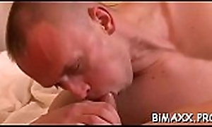 Babe watches gay boyz shacking up whilst she sucks locate