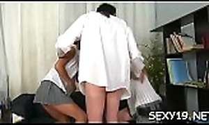 Sweltering elderly cram is humping babe'_s accompanied by anal stab